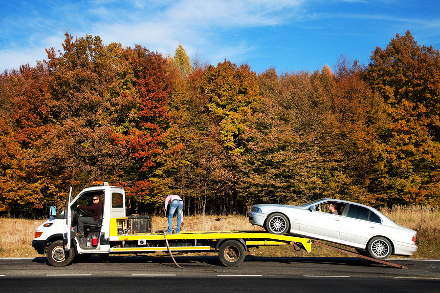 This is a picture of an auto towing.